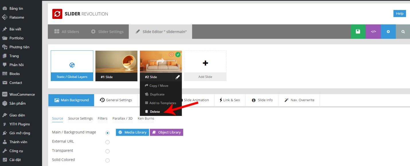 , Hướng dẫn quản lý Slider trong website WordPress